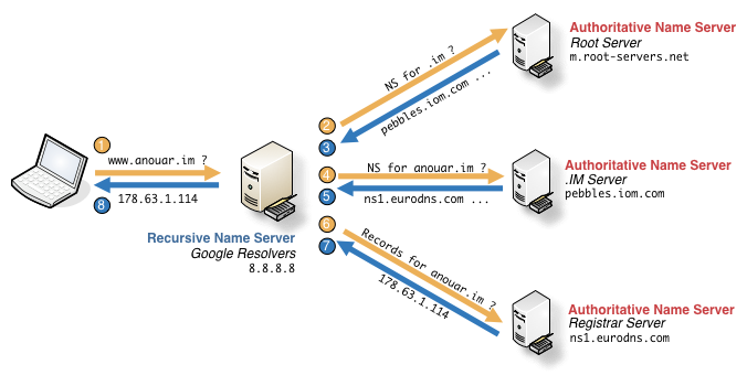 DNS resolution workflow